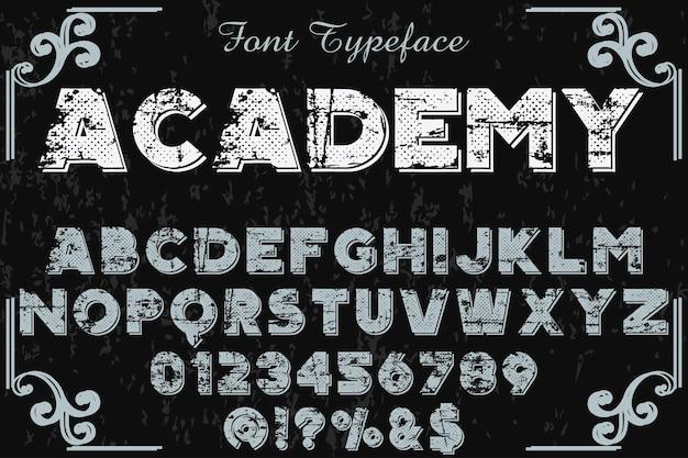 Vintage alphabet schrift schriftgestaltung akademie