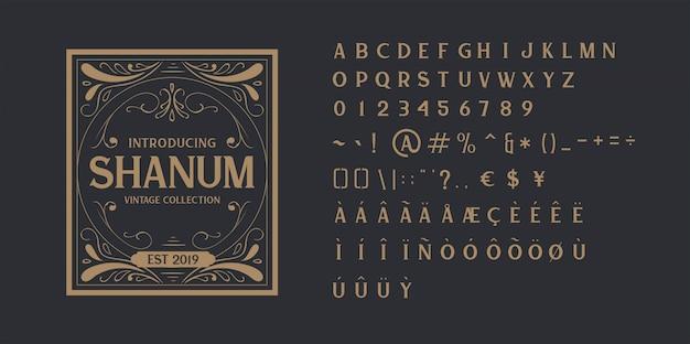 Vintage alphabet schriftart