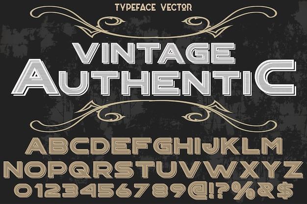 Vintage alphabettypographie-schriftart authentisch