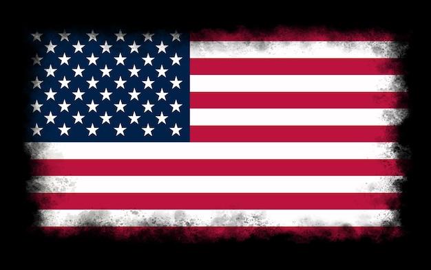Vintage amerikanische flagge hintergrund