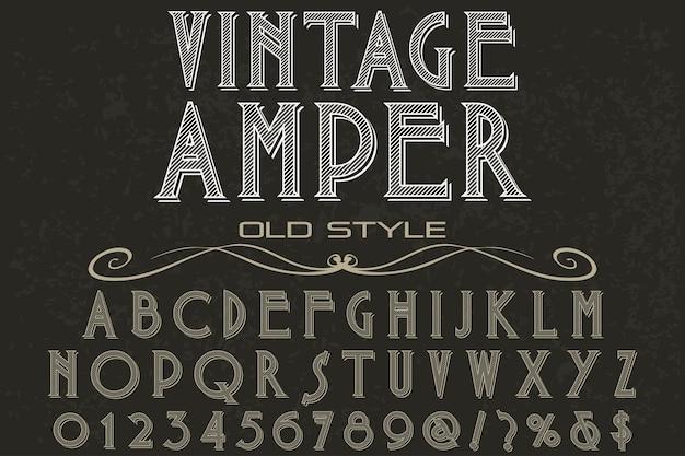 Vintage ampere schriftzug etikettendesign