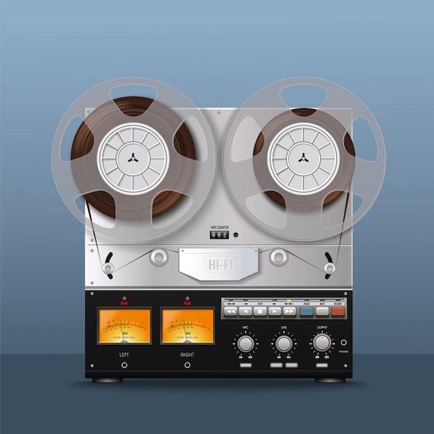Vintage analog-tonbandgerät. retro-stil