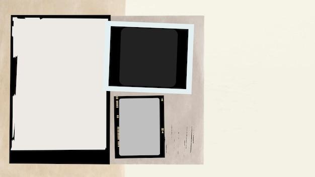 Vintage analoge filmrahmen vektor ästhetische collage