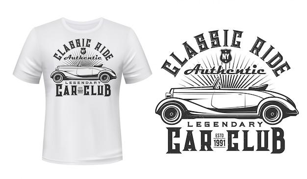 Vintage auto club t-shirt druck