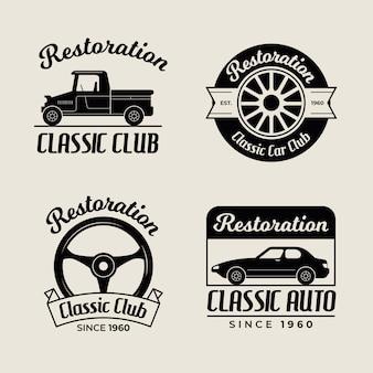 Vintage auto logo sammlung