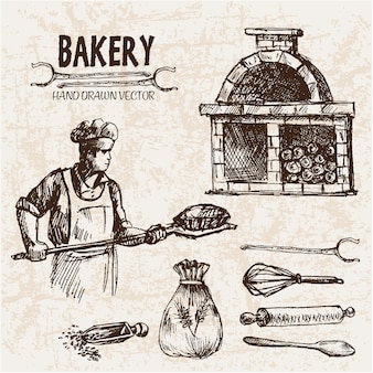 Vintage bäckerei design