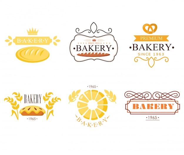 Vintage bäckerei etiketten