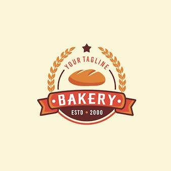 Vintage bäckerei logo vorlage