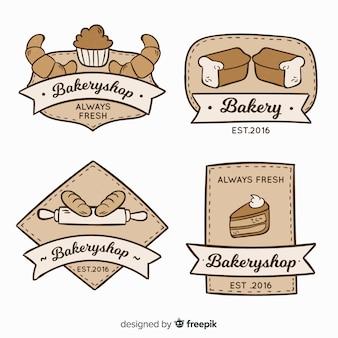 Vintage bäckerei logos