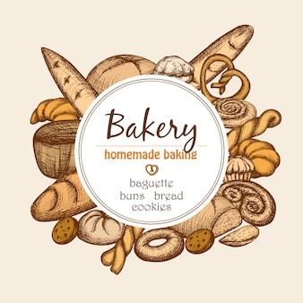 Vintage bäckerei rahmen