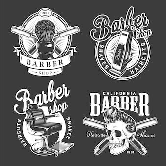 Vintage barbershop abzeichen