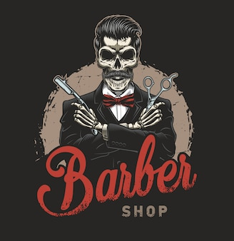 Vintage barbershop illustration