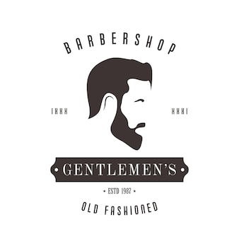 Vintage barbershop-logo für ihr design