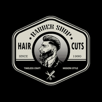 Vintage barbershop-patch