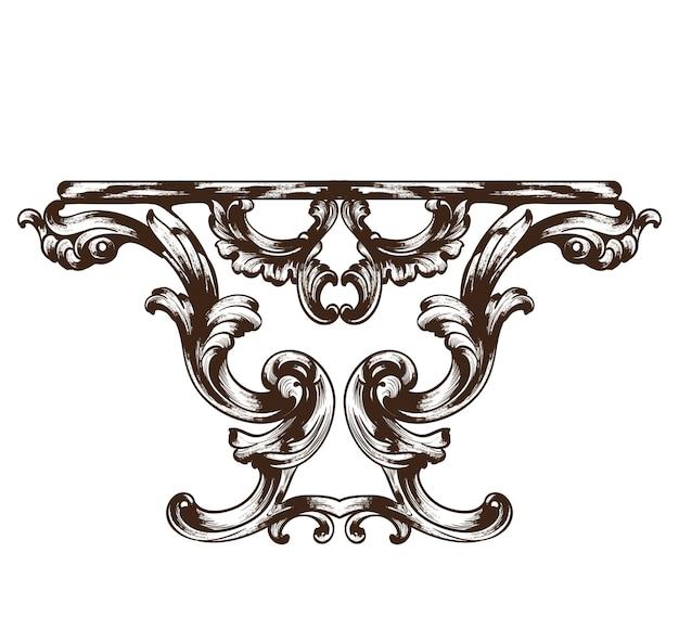 Vintage barock tisch