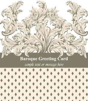 Vintage barocke grußkarte