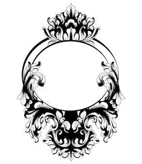 Vintage barockspiegelrahmen