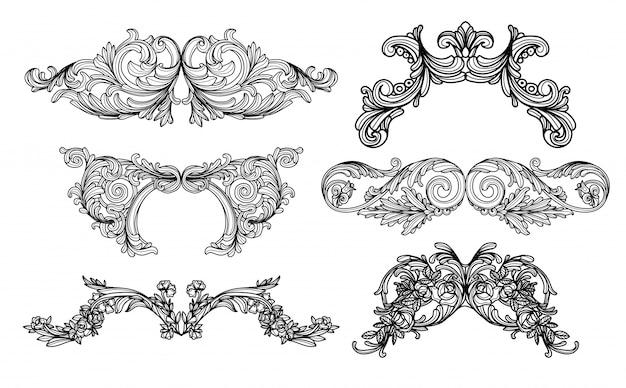 Vintage barockzeichnung