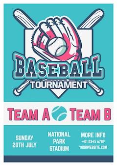 Vintage baseball flyer vorlage
