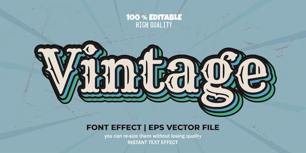 Vintage bearbeitbare schriftart-effekt-vektor-text-stil-vorlage
