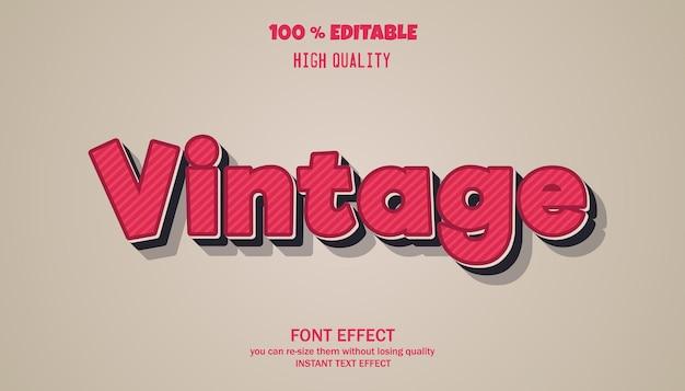 Vintage bearbeitbarer schrifteffekt