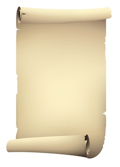 Vintage beige scroll papier banner