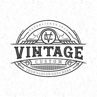 Vintage benutzerdefinierte logo-design