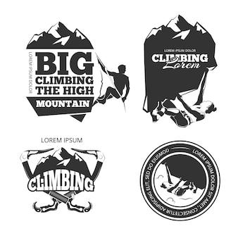 Vintage bergsteigen vektor-logo
