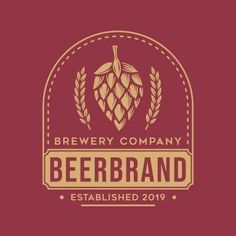 Vintage bier logo