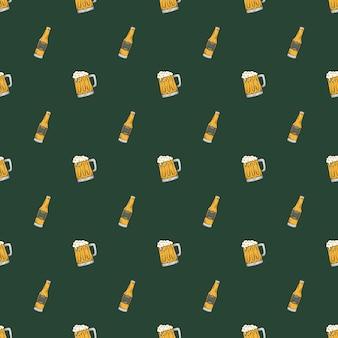 Vintage bier nahtlose hintergrundmuster