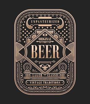Vintage bieretikett