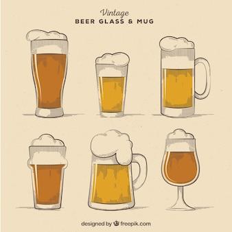 Vintage bierglas- & tassensammlung