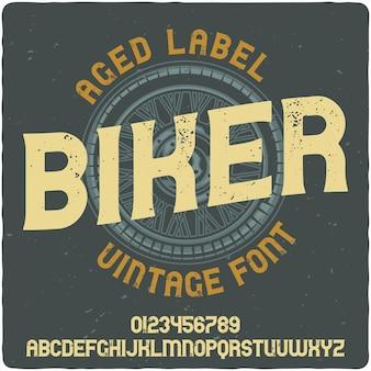 Vintage biker-schriftzug