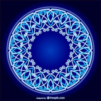 Vintage-blauen blumen-design