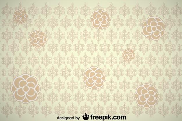 Vintage-blume hintergrund-design