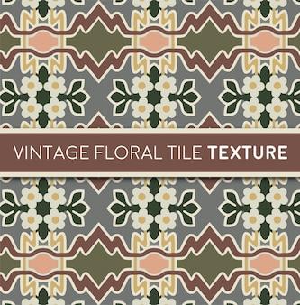 Vintage blumenfliesen textur