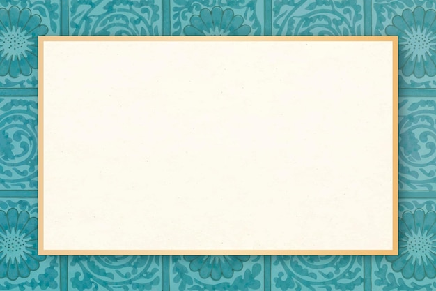 Vintage blumenrahmen vektor william morris stil