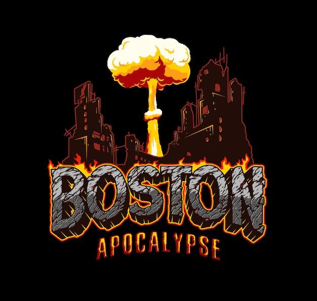 Vintage boston apokalypse label