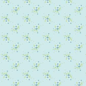 Vintage bouquets blumen muster in blauem hintergrund