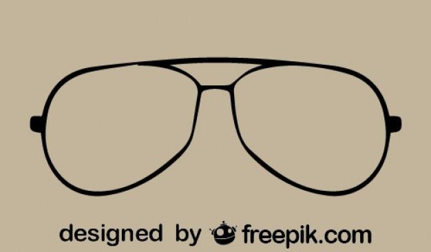 Vintage-brillen-vektor-symbol