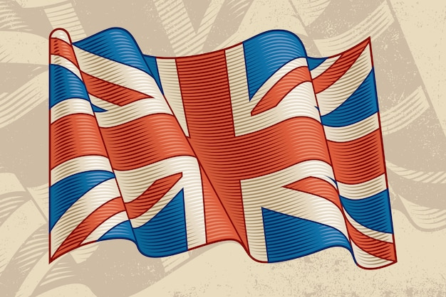 Vintage britische flagge