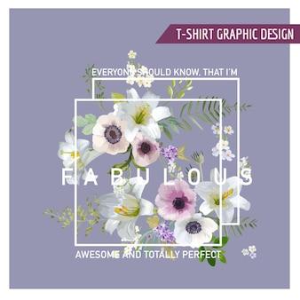 Vintage bunte blumen grafikdesign
