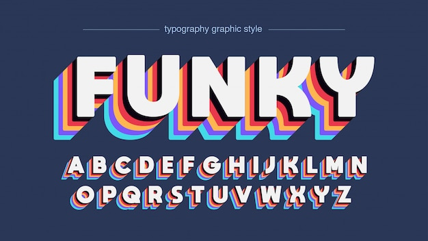 Vintage bunte disco typografie