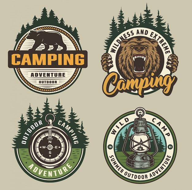 Vintage camping abzeichen