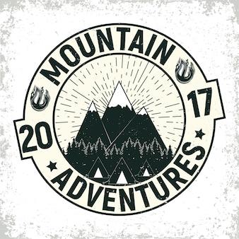 Vintage camping oder tourismus logo