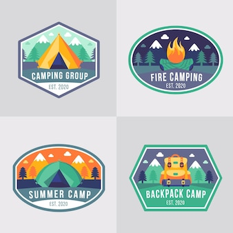 Vintage camping und abenteuer abzeichen