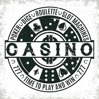 Vintage casino logo design