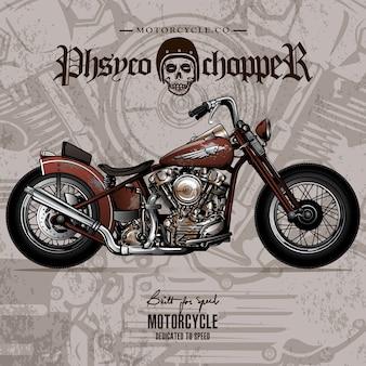 Vintage chopper motorrad poster