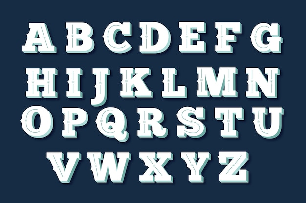Vintage christmas alphabet pack