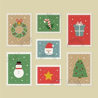 Vintage christmas briefmarkensammlung